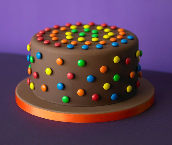 Smarties chocolate cake . . . simple yet a stunner.