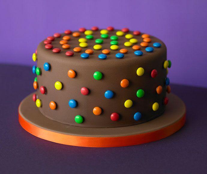 Chocoladetaart met smarties