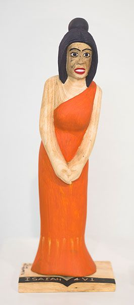 Collen Maswanganyi We want your surname only: Maria, 2012 Wood and acrylic (40 x 11 x 5cm)