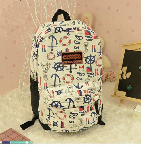 Cute multicolor Anchor Backpack Bag