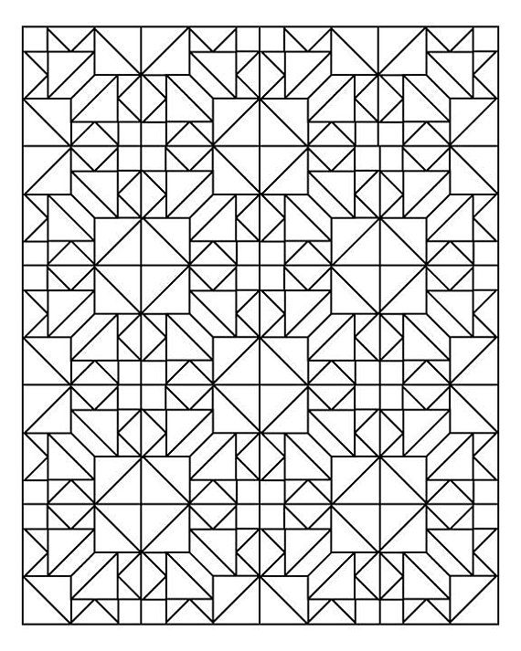 Quilter S Delight Coloring Book Etsy Geometric Coloring Pages Pattern Coloring Pages Coloring Books