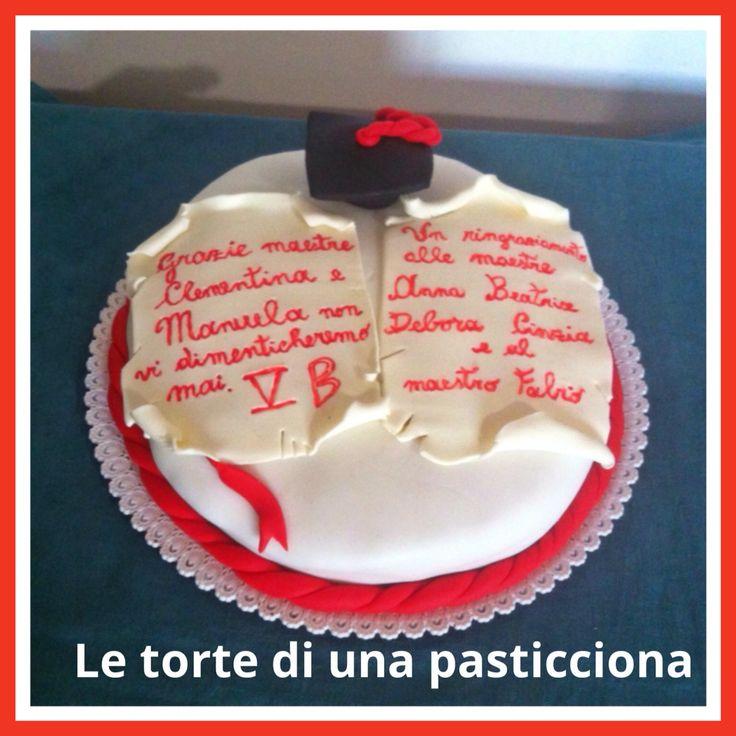 Una torta per ringraziare le maestre di quinta elementare