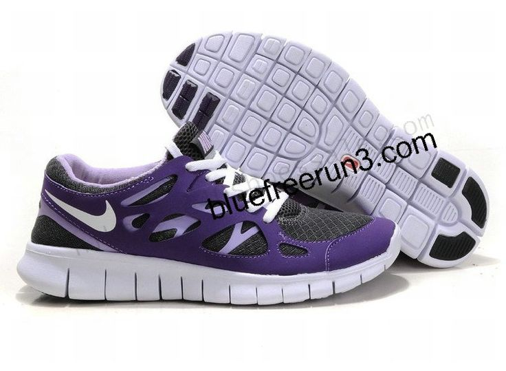 Womens Nike Free Run 2 Anthracite Purple White Black (US SIZE 5 - US SIZE 8.5) http://forinstantpurchase.com/sneakers