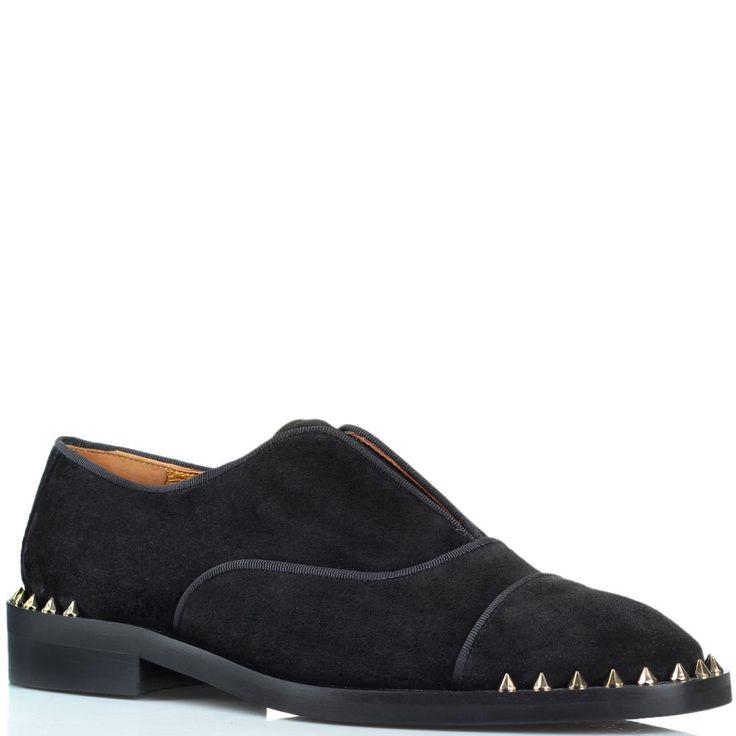 Замшевые туфли-дезерты Ras черного цвета с декором-шипами размеры: 36-40 цена: 6049 грн
