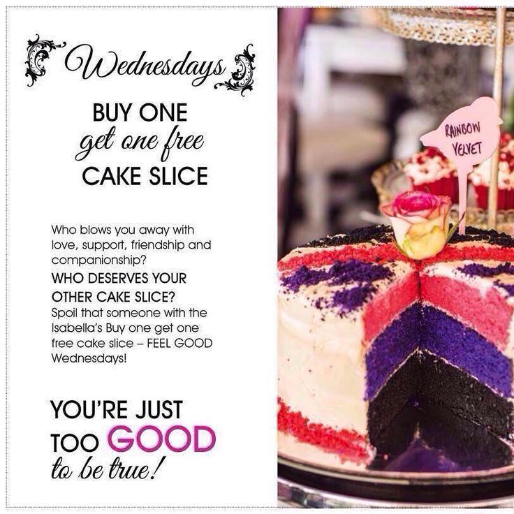 Come on, Wednesday!  We want cake!