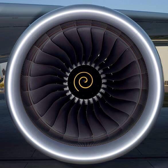 The Rolls Royce Trent XWB high-bypass turbofan engine to power the latest Airbus A350 XWB.