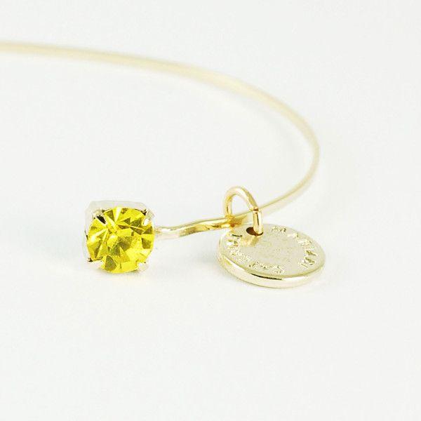 CATERINA MARIANI BIJOUX Swarovski Light Topaz Bracelet | La Luce http://shoplaluce.com/collections/caterina-mariani-bijoux/products/caterina-mariani-bijoux-swarovski-light-topaz