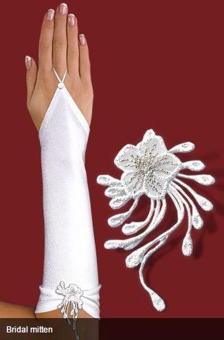Νυφικά Αξεσουάρ - Αξεσουάρ Μαλλιών :: Ένα ζευγάρι Νυφικά Γάντια με Μοτίφ Χωρίς Δάχτυλα για Νύφη ή Βραδινό Πάρτυ σε Λευκό ή Ιβουάρ - Κρεμ - http://www.memoirs.gr/