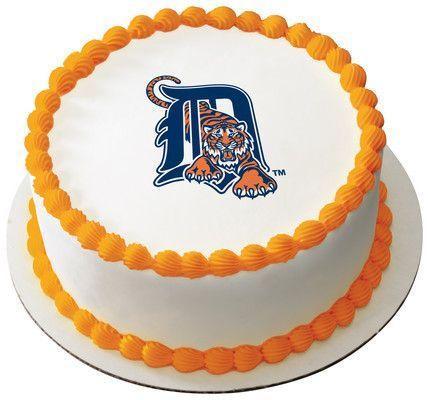 MLB Detroit Tigers Edible Icing Sheet Cake Decor Topper