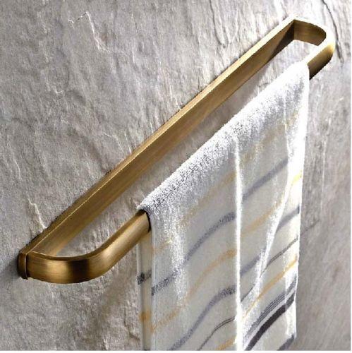 NEW-Antique-Brass-Bathroom-Towel-Bar-Wall-Mounted-Towerl-Rack-Holder-Single-Bar
