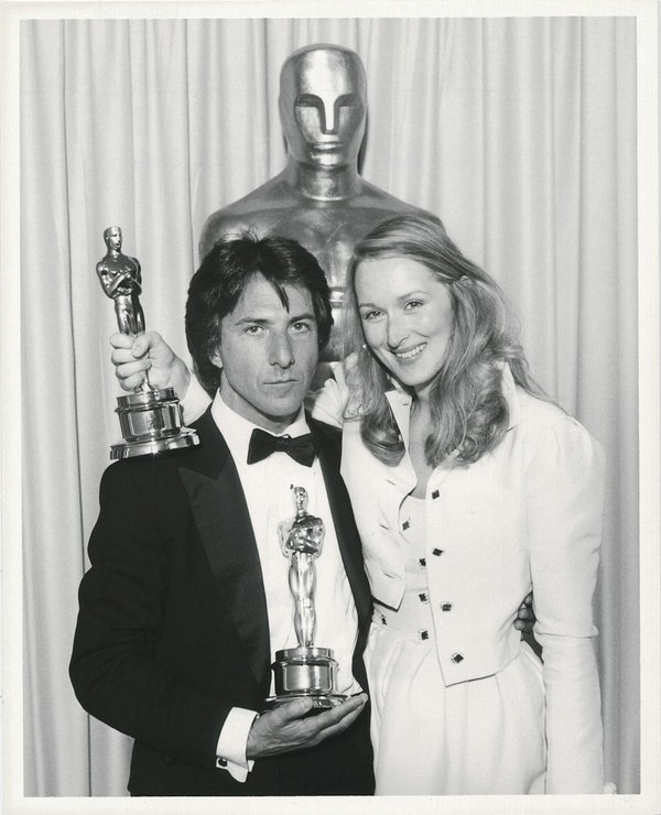 "Merle Streep and Dustin Hoffman both won Oscars for their roles in ""Kramer vs. Kramer"" at the 52nd Academy Awards - 1980"