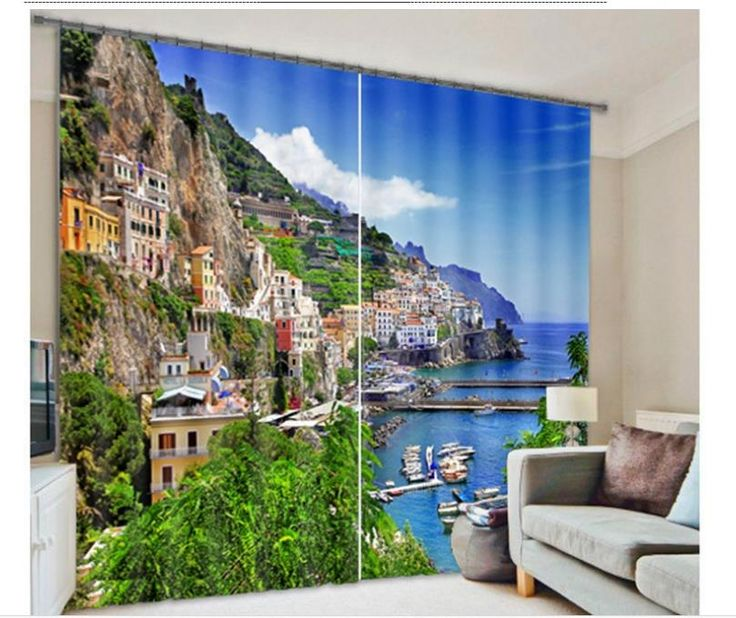 $ 23 Индивидуальные 3D шторы украшения современный пейзаж Лучшие Классические 3D Европейский Стиль купить на AliExpress