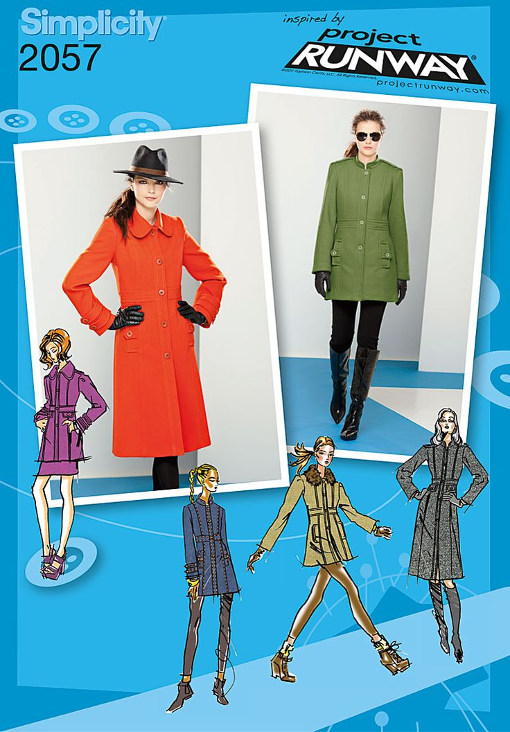 Simplicity Creative Group - Misses' Coat or Jacket. Project Runway Collection: