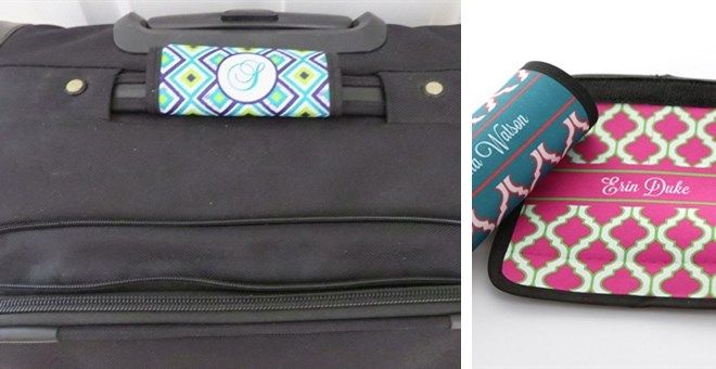 Personalized Luggage Handle Wrap