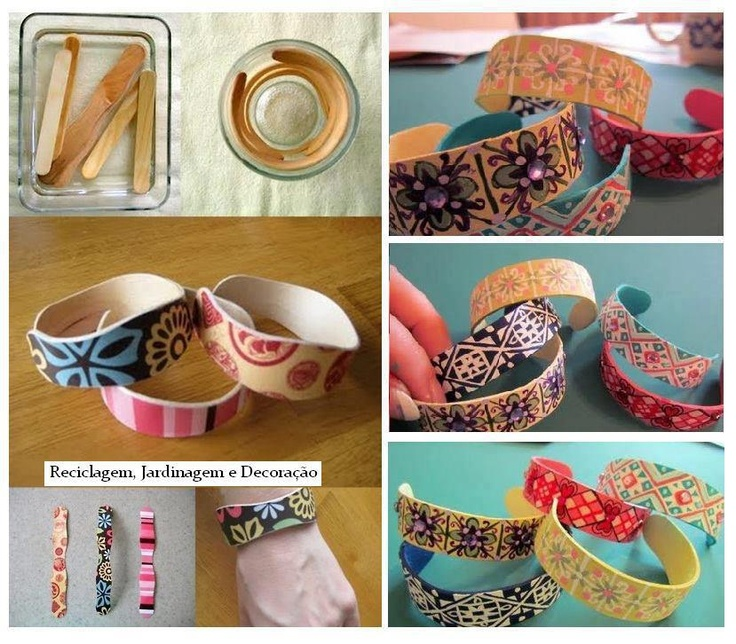 Create BRACELETS fashion with sticks of ice cream