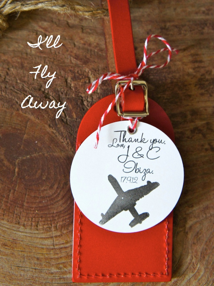 Wedding Favor Bag Tags : Wedding Favors - Ill Fly Away Luggage Tag (Multiple Quantities ...