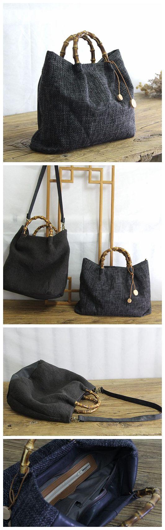 Large Canvas Bag, Women Tote Bag, Canvas Travel Bag YY013