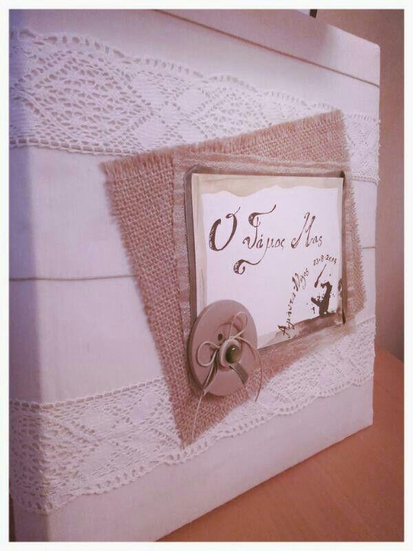 Rustic handmade wedding album
