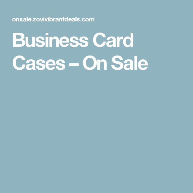 Business Card Cases – On Sale