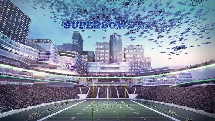 Reimagined NFL Stadium of Tomorrow