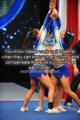 """You know bases work well together when they can know whats wrong and compensate for it just by looking at each other"""