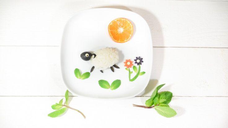 cute Olive and rice sheep  #foodart #yearofthesheep