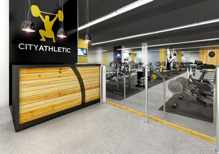 City athletic reception gym cool gyms pinterest for 2000 sq ft gym layout