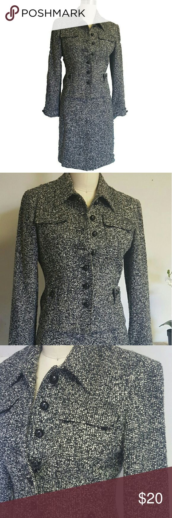 Tweed Power Work Suit I.N.C Business suit. In excellent used condition. Very nice set. The jacket can also be worn separately with jeans. 2 peice set. INC International Concepts Jackets & Coats Blazers