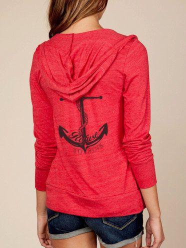 Refuse to Sink Anchor Hoodie Lightweight Sweatshirt