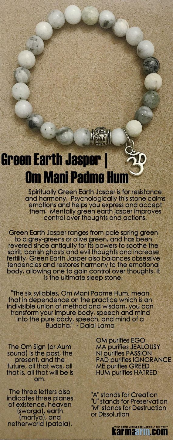Green Earth Jasper (Protection | Balance | Creativity)has been revered since antiquity for its powers to soothe the spirit, banish evil thoughts and increase fertility. It is the ultimate sleep stone.  #Love #Beaded #Bracelet #Yoga #Chakra #Mala #Stretch #Meditation #handmade #Jewelry #Energy #Healing #Crystals #Stacks #pulseiras #Bijoux #Handmade #Reiki #Mala #Buddhist #Charm #Mens #Womens….