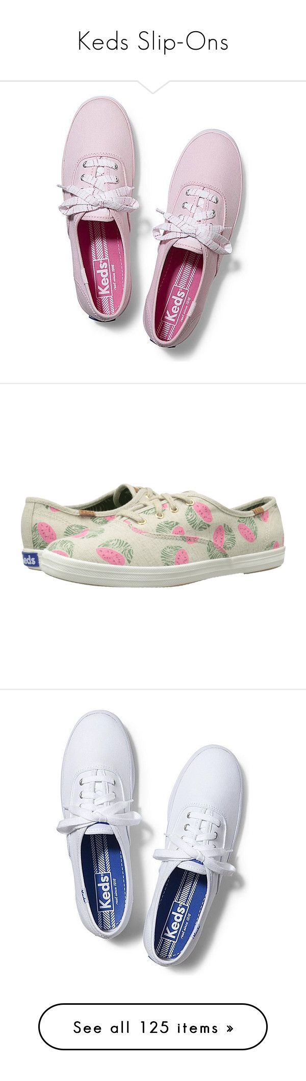 """""""Keds Slip-Ons"""" by nathaliecastaneda ❤ liked on Polyvore featuring shoes, sneakers, keds, pink, light pink, lace sneakers, multicolor sneakers, pink sneakers, colorful shoes and lace shoes"""