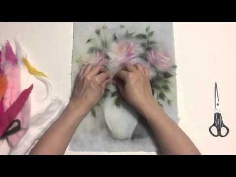 Шерстяные картины Марины Аскеровой Вяжем с Людмилой Тен - YouTube