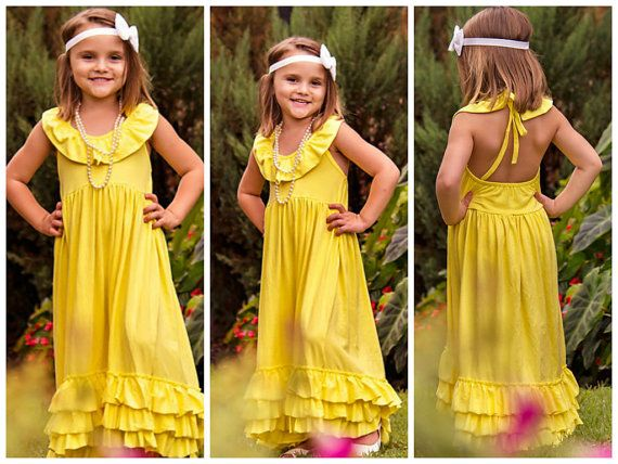 Girls Yellow Maxi Dress // Girls Long Maxi by AdalynsBoutique, $34.99  http://www.adalynsboutique.com