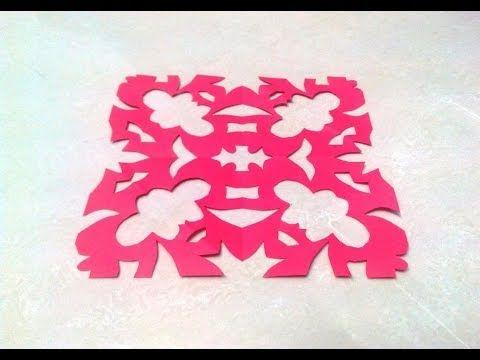 Chinese KIRIGAMI paper cutting tutorials - 1