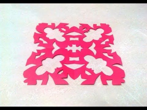 Chinese KIRIGAMI paper cutting tutorials - 1