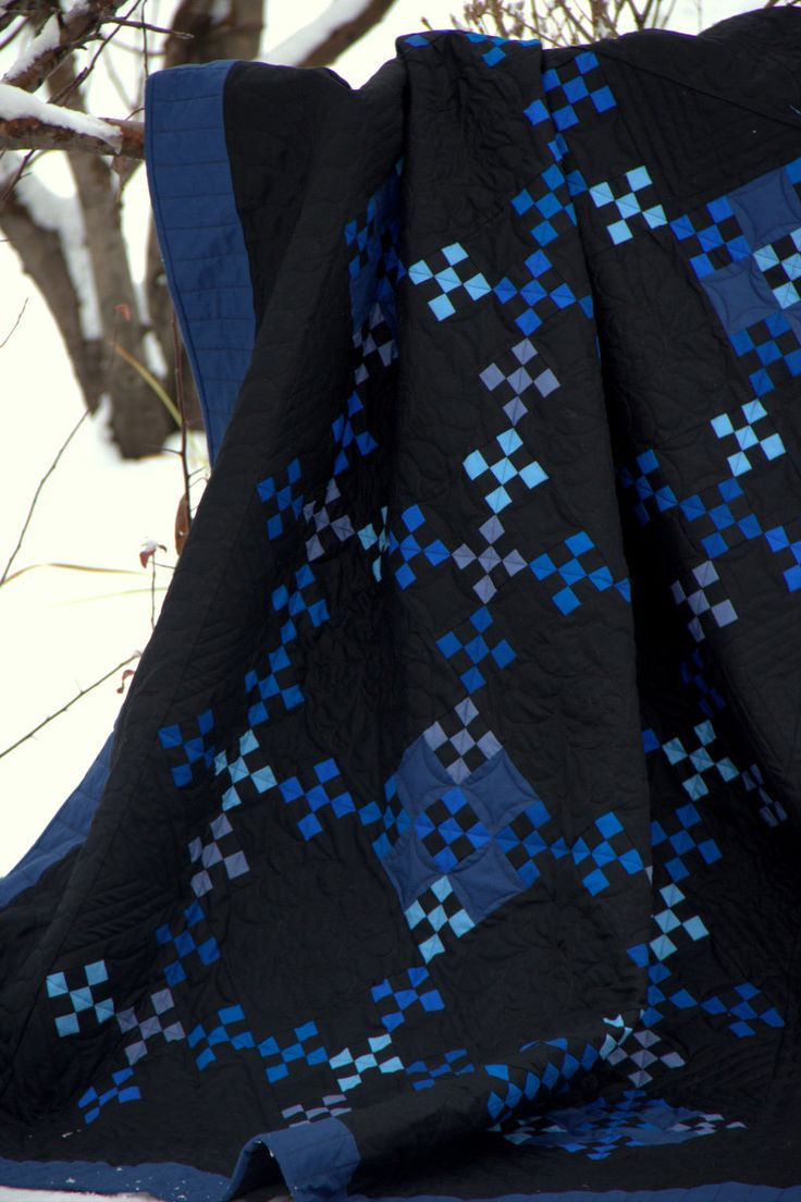 Amish Quilt - Custom made, double nine patch (Urban Amish) pattern. Seen at HouseofdeVeer via Etsy.