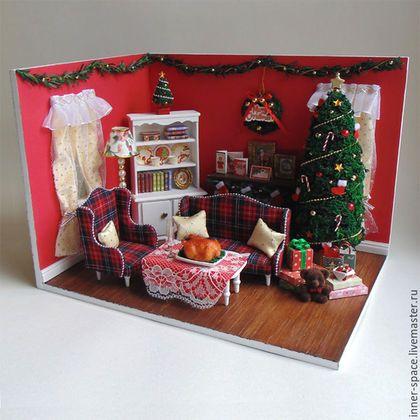 новогодний румбокс рождественский румбокс купить в москве кукольный дом купить кукольный дом интернет магазин кукольный дом домик для кукол кукольные дома для девочек дом мечты румбокс для кукол румбокс в подарок новогодний подарок коллекционная миниатюра кукольная миниатюра Внутреннее пространство