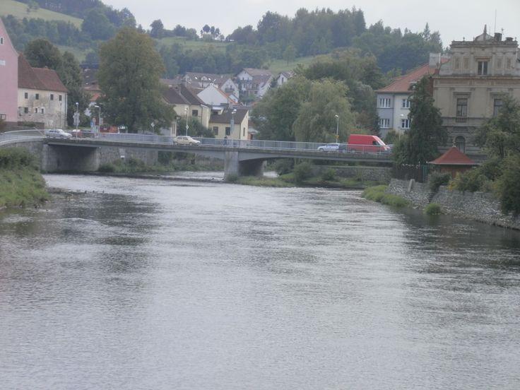 Most přes řeku Otavu.