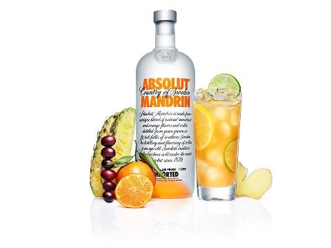 Absolut Mandarin Punch  2 parts ABSOLUT MANDRIN  1.5 parts pineapple juice  2 parts cranberry juice  2 parts ginger ale  Garnish with lemon and lime wheels