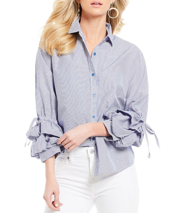 Shop for Sanctuary Frankie Tie Detail Ruffle Sleeve Button Front Novelty Shirting Blouse at Dillards.com. Visit Dillards.com to find clothing, accessories, shoes, cosmetics & more. The Style of Your Life.