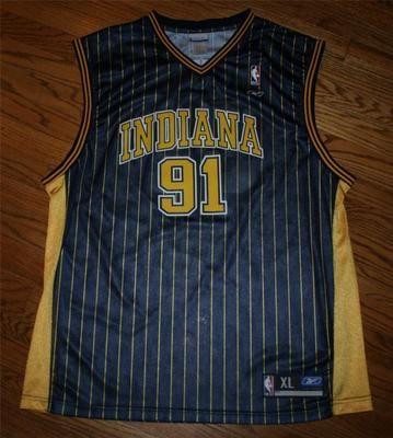8e482754066c Ron Artest  91 Indiana Pacers pinstripe Reebok NBA Basketball Jersey-Men  size XL