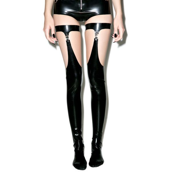 House of Etiquette Danika Stockings (€130) ❤ liked on Polyvore featuring intimates, hosiery, tights, accessories, socks, thick pantyhose, latex stockings, thigh high stockings, garter pantyhose and thick stockings