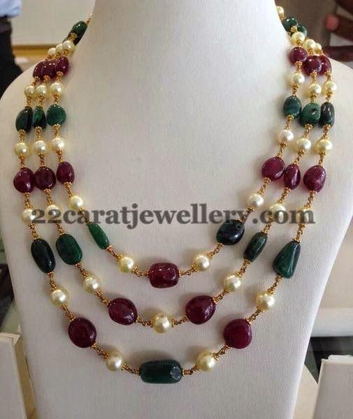 Emerald Drops Multi Strings Sets | Jewellery Designs