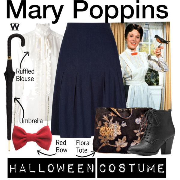 Inspired by Julie Andrews as Mary Poppins in Disney's 1964 film adaptation of Mary Poppins.