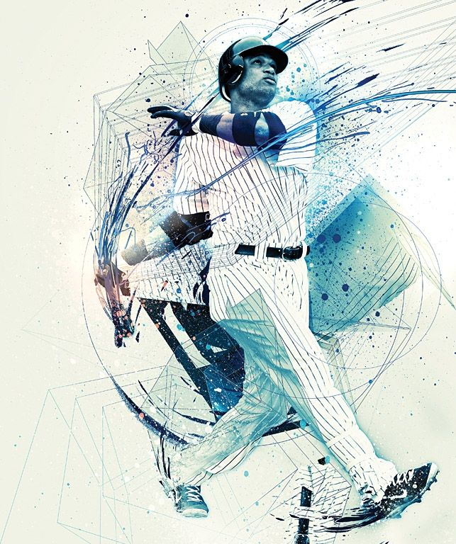 ESPN the Magazine, April 2, 2012 issue 'MLB Preview'  Photo illustrations *Robinson Cano - Yankees*  by NOPATTERN / Chuck Anderson http://www.nopattern.com | *more illustrations and spreads from the issue at link* | Art Direction: Jason Lancaster, Linda Pouder