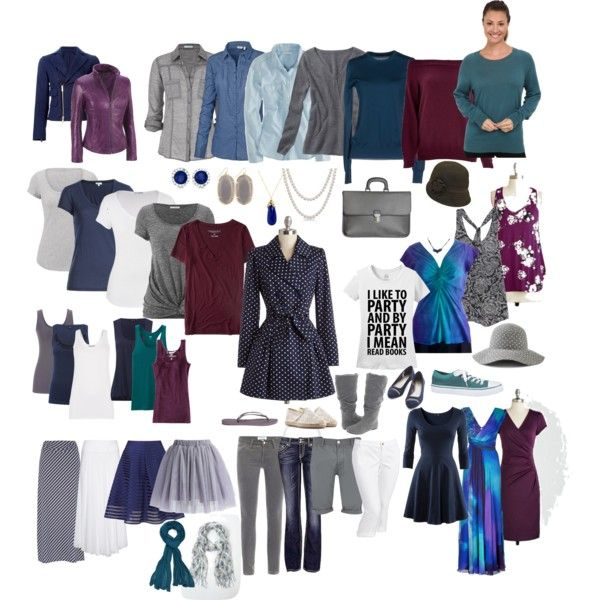 All-season wardrobe capsule: peacock-inspired navy, plum, teal, and grey