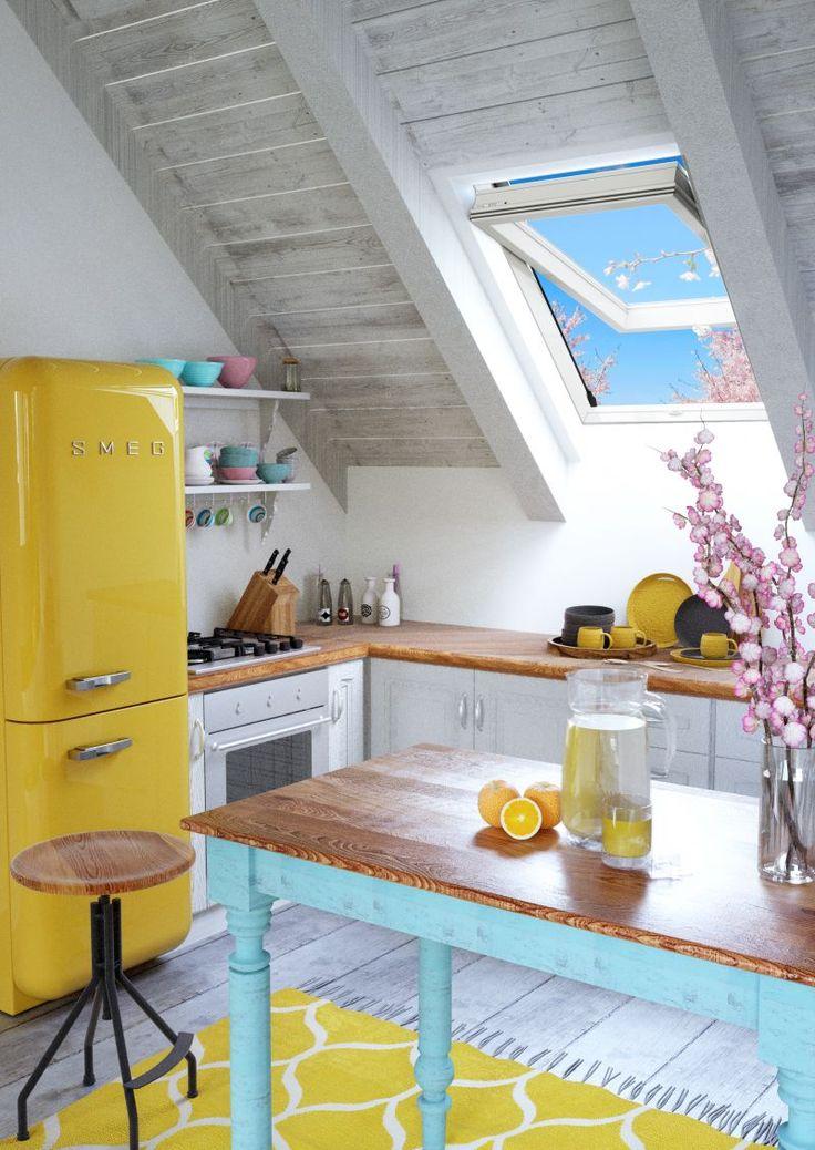 A to nasz autorski pomysł na kuchnię pod dachem:)