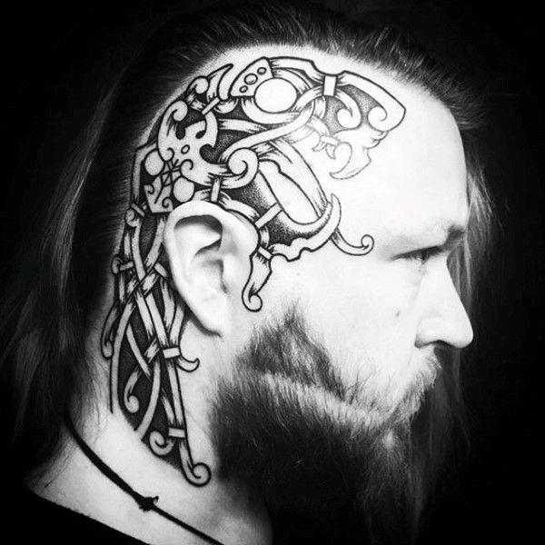 100 Head Tattoos For Men Masculine Ink Design Ideas Viking Tattoos For Men Head Tattoos Tattoos