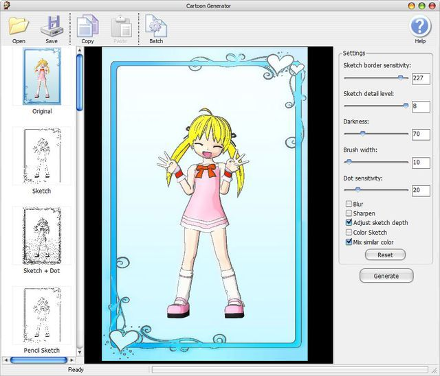 Cartoon Generator, diecinueve efectos para convertir fotos en cartoons