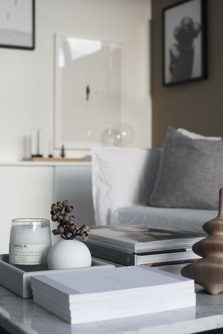 Coffee table styling by Elisabeth Heier